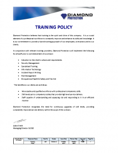 training-policy